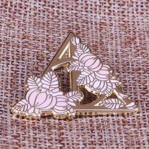 Harry Potter Deathly Hallows Floral Enamel Pin